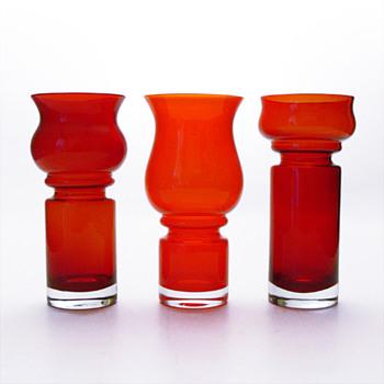 TULPPAANI vases, Tamara Aladin (Riihimäki lasi Oy, 1971) - Art Glass