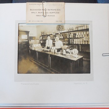Antique Photograph of Business in the 1800