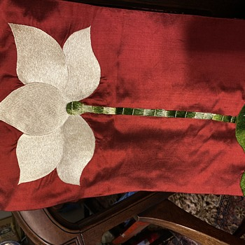 Silk Chasuble with lotus design.