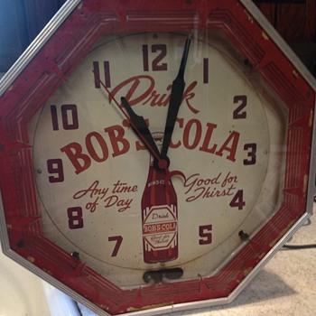 Bob's Cola neon clock - Clocks