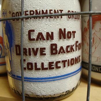 REENDERS DAIRY ..KALAMAZOO MICHIGAN WAR SLOGAN MILK BOTTLE - Bottles