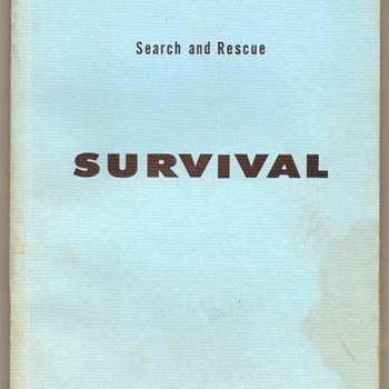 1962 - U.S. Air Force Search & Rescue Survival Manual - Books