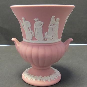 Wedgwood Jasperware Pink Urn - China and Dinnerware