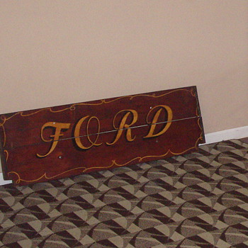 Looking for info on this ford wooden tailgate - Signs