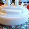 """1900 Milk Glass ship Oregon, Mustard Container  """"Remember The Maine"""" Spanish American War 1898"""