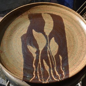 14 inch Stoneware Platter - Pottery