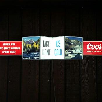 Large vintage Coors lighted sign