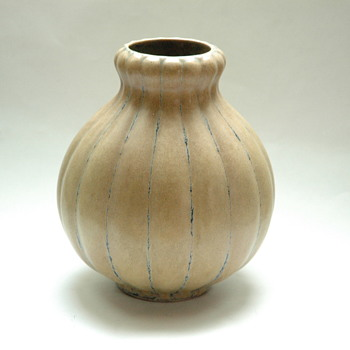 french art deco vase - louis lourioux - foëcy - Art Deco