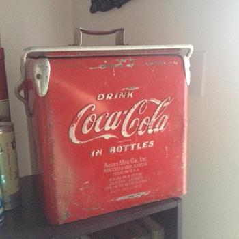 Cooler, Ink Blotter, Grocery Cart Rack, Bottles - Coca-Cola