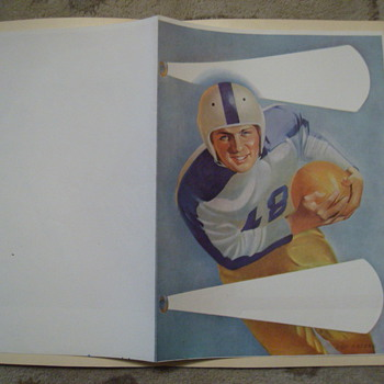 Football Score card 1950S