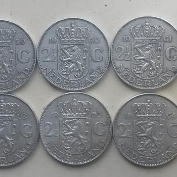 21/2 nederland coins - World Coins
