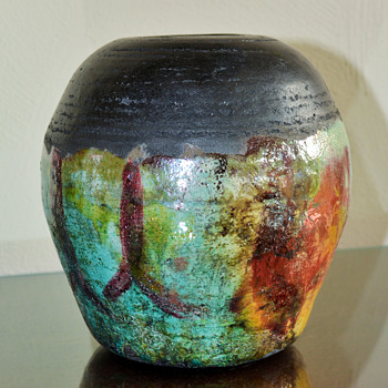 Raku VaseMy favorite find this past weekend :). - Pottery