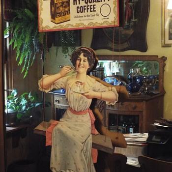 Die-cut Coffee Advertising