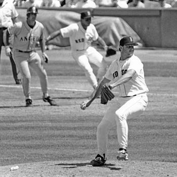 R. Clemans battleing Chuck Finley 1980s