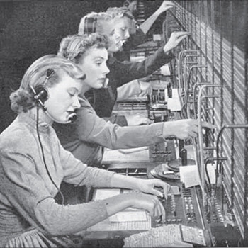 Chesapeake and Potomac Telephone Company Operators Photo, Circa 1951 - Telephones