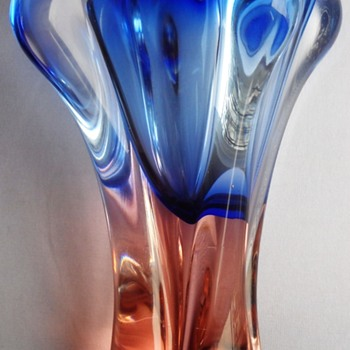 JOSEF HOSPODKA vase, Chribska glassworks, Czech, 1960s -1970s - Art Glass