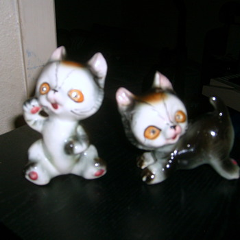 Little Kitten Figurines - Pottery