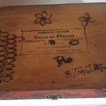 Mayan calendar cigar box