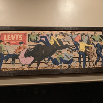 1950's Levi's Banner Sign - Signs