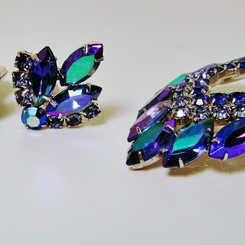 Sarah Coventry Brooch Set - Blue Lagoon - Costume Jewelry