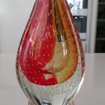 Teardrop Art Glass Sculpture - Art Glass