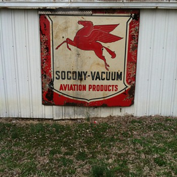 pegasus socony-vacuum aviation sign - Signs