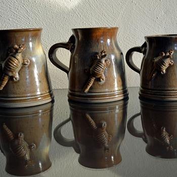 Armadillo Stoneware Mugs - Pottery