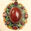Chinese Carnelian Enameled Pendant