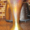 L C Tiffany Favrile 1554 - GOLD IRIDESCENT TRUMPETED VASE