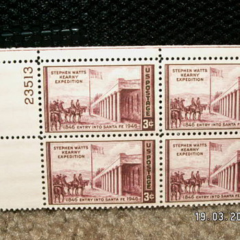 1946 Stephen Watts Kearny Expedition 3¢ Stamps