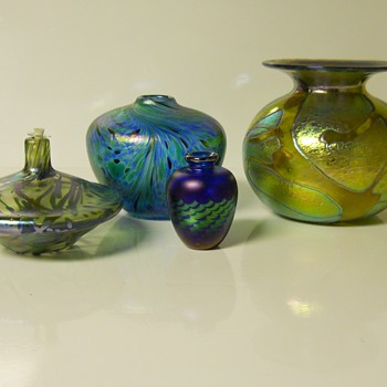 Daniel Vargas - Arte Vargas Glassblowing Studio Group Vases,20 Century - Art Glass