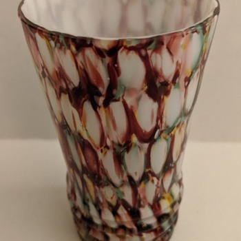 Small Spatter Glass Vase - Art Glass
