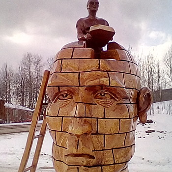 Road Trip / Chainsaw Carvings - Fine Art