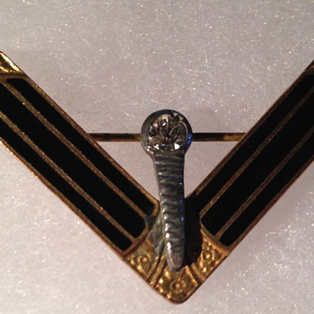 Victory Pin with Torch - Medals Pins and Badges