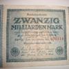 world war 2 recession german bank note