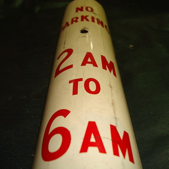 Vintage Detroit No Parking 2AM to 6AM sign - Signs