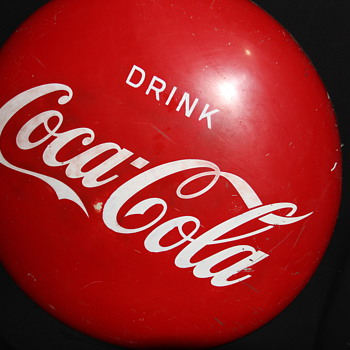 Drink Coca Cola Disc. 36 inches across. year ??