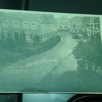 Early 1900's Postcard of a Flooding Town - Postcards