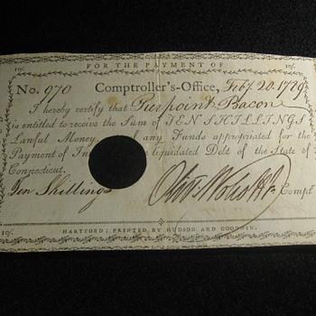 Oliver J. Wolcott Jr.  .  .  . Signed 1789 Document