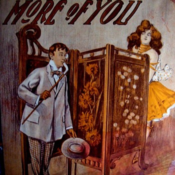 "CUTE SHEET MUSIC COVER!  ""I'D LIKE TO SEE A LITTLE MORE OF YOU""  DIFFERENT ALRIGHT. - Music Memorabilia"