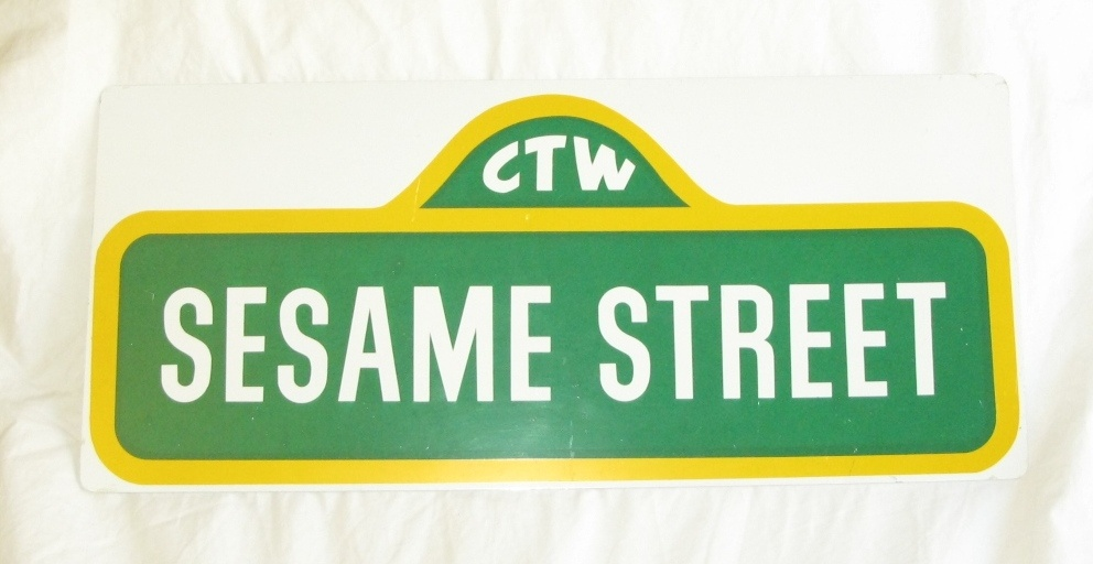 Sesame street sign collectors weekly aloadofball Images