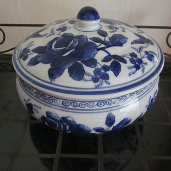 Vintage Chinese Japanese Blue White Tureen - Asian