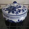 Vintage Chinese Japanese Blue White Tureen