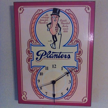Planters peanut advertising clock - Advertising