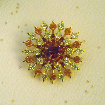 Topaz Brooch  - Costume Jewelry