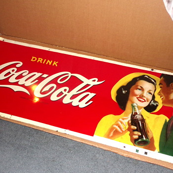 1941 Coca-Cola Boy and Girl Sign - Coca-Cola