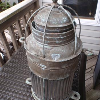 Large Brass Lantern - Lamps