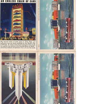 1933 Chicaco Worlds Fair Postcard Collection UNUSED