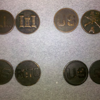 WWI U.S. Army Collar Disc collection ~group 2