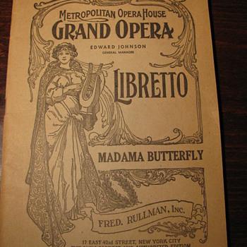 Madama Butterfly- Metropolitan Opera House in 1907